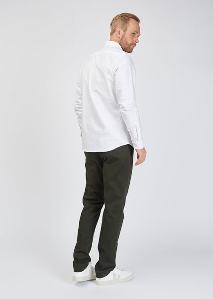 Sixten L/S Oxford Shirt White