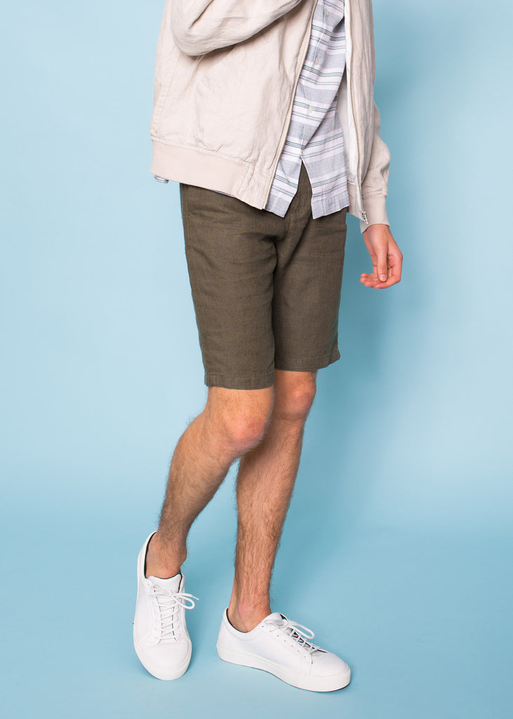 Crown Linen Shorts Green
