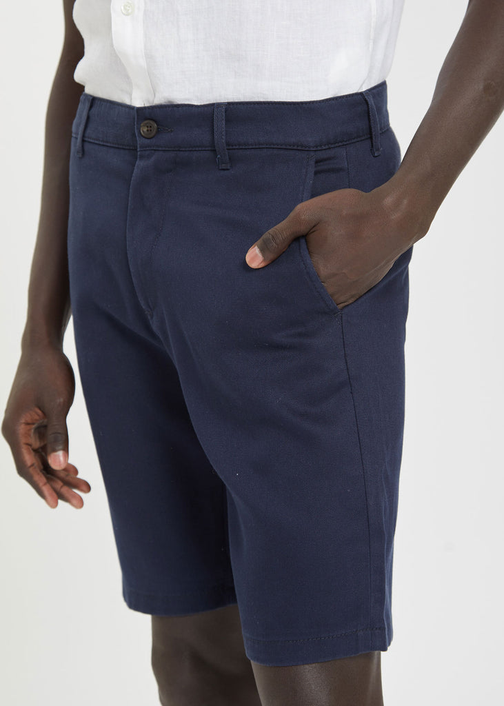 Crown Tencel Shorts Navy Blue