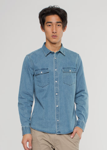 Nash Denim Shirt Medium Wash