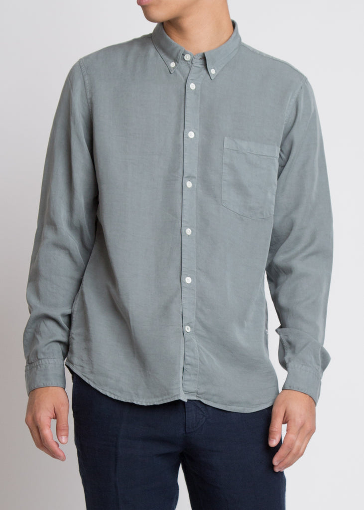 Falk Slim Fit Tencel Shirt Green