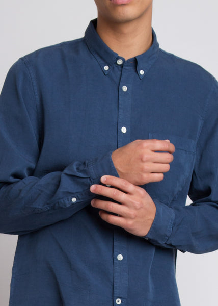 Falk Slim Fit Tencel Shirt True Blue