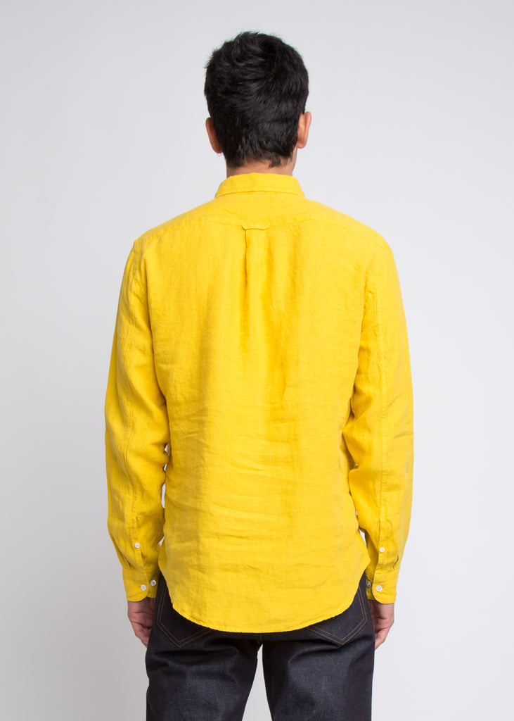 New Derek Linen Shirt Yellow