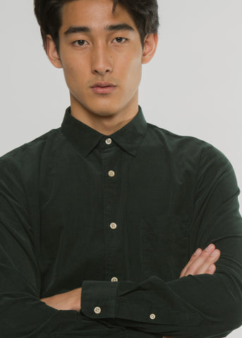 Sean Cotton Shirt Dark Green