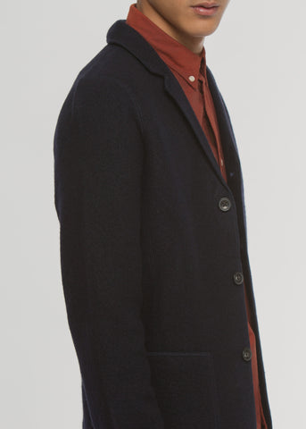 Wallace Knit Cardigan Jacket Navy Blue