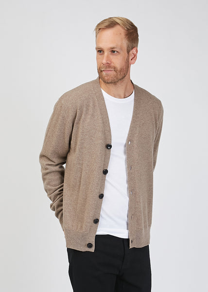 Adam Light Wool Cardigan Utility Khaki