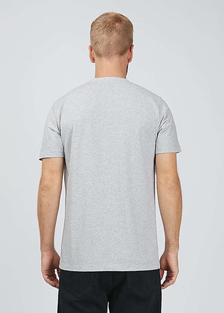 Niels Bubble T-Shirt Light Grey Melange