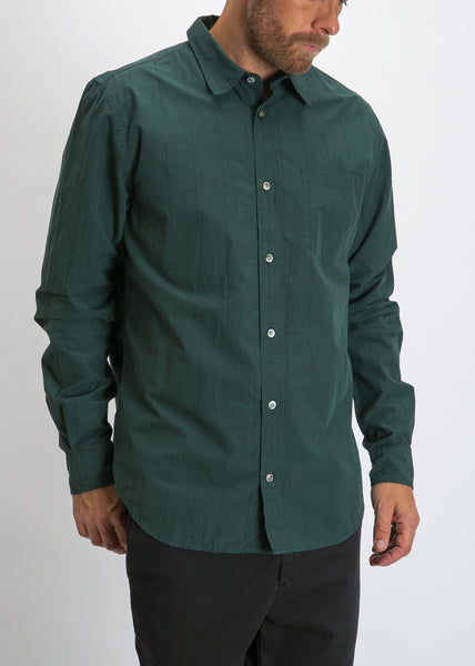 Osvald Nautical Stripe Shirt Spinnaker Green