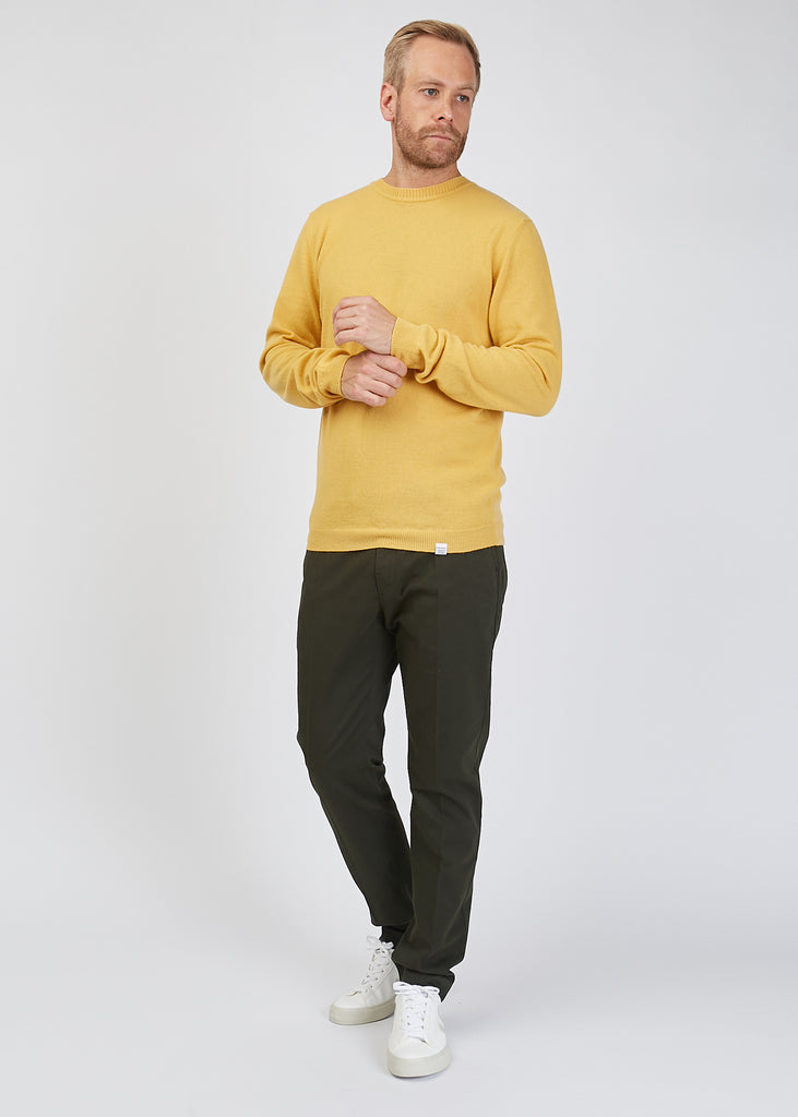 Sigfred Light Wool Jumper Sunwashed Yellow