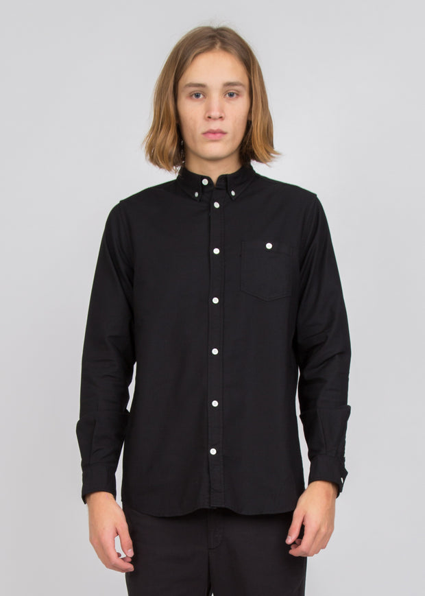 Anton Oxford Shirt Black