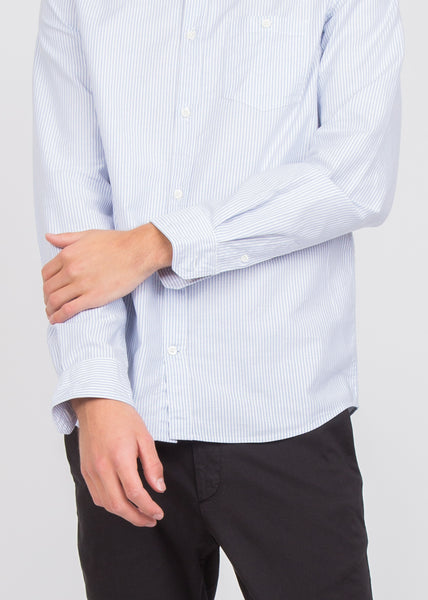 Anton Oxford Shirt Blue Stripe