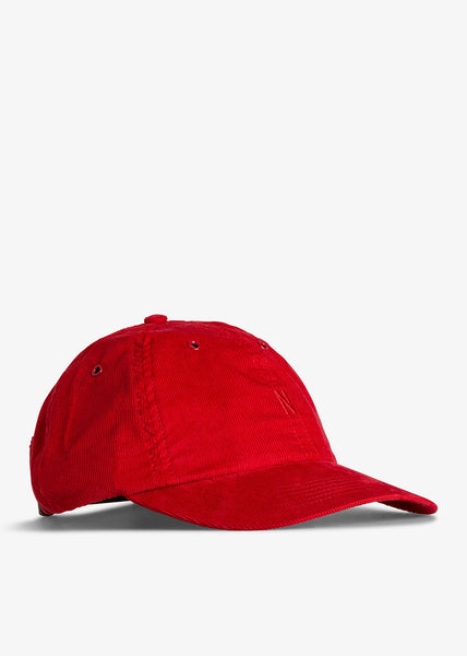 Baby Corduroy Sports Cap Askja Red
