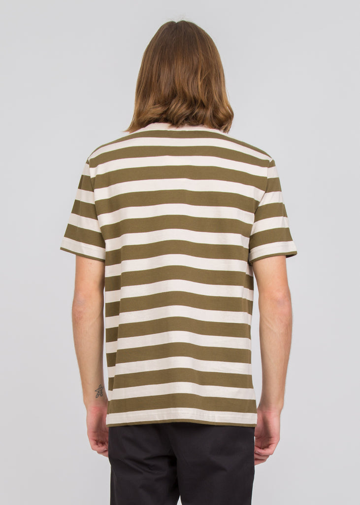 Johannes Rugby Stripe SS Tee Sitka Green