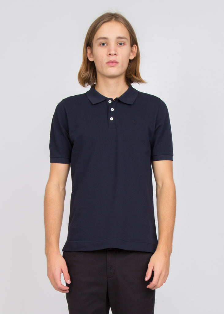 Theis Pique Tee Dark Navy