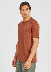 Johannes Pocket Tee Madder Brown