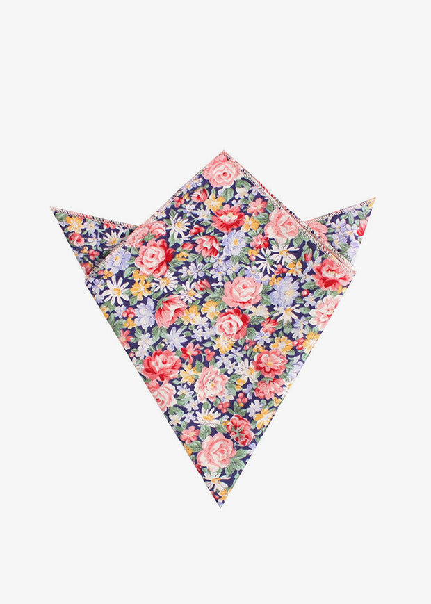 Chrysanthemum Floral Pocket Square Pink