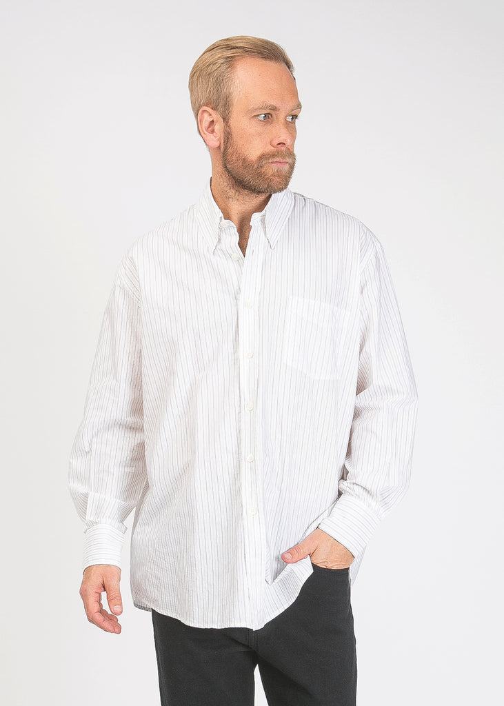 Less Borrowed Shirt Brown Stripe