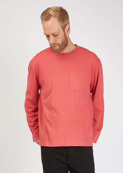Box Longsleeve T-Shirt Vintage Red