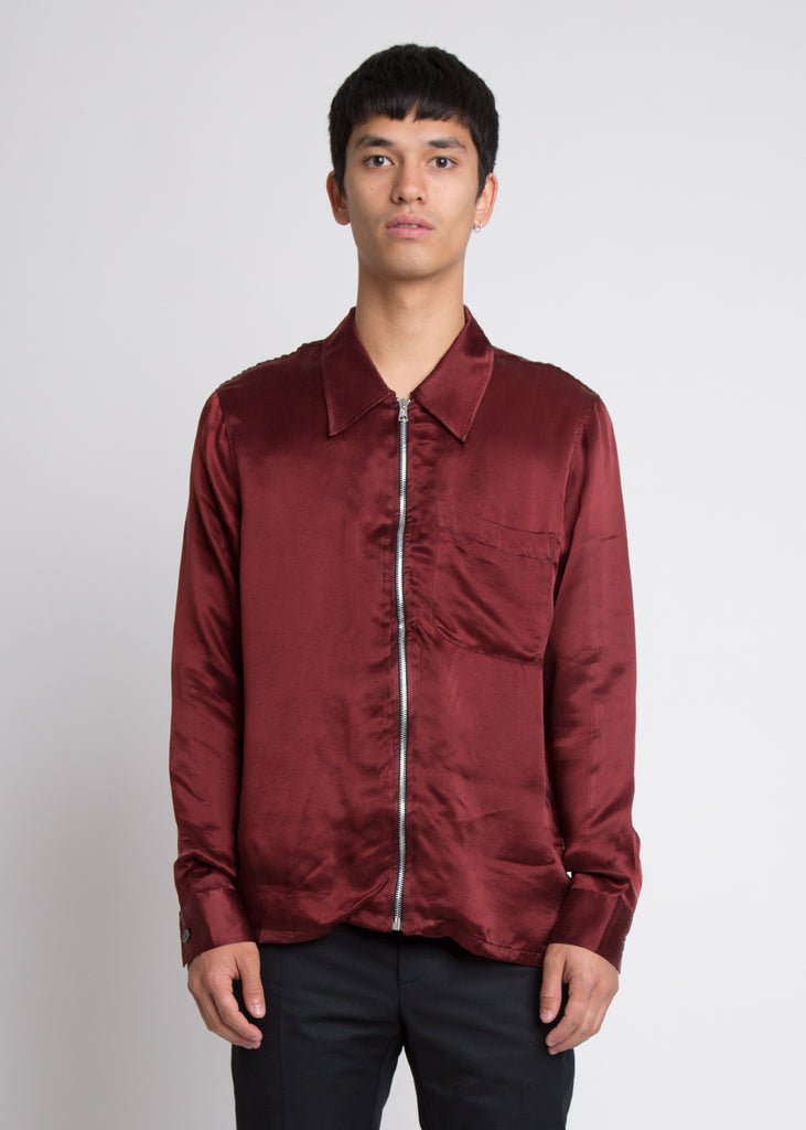 Drip Shirt Dark Blood Cupro