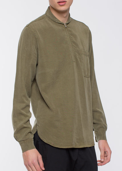 Shawl Zip Shirt Liquid Grass