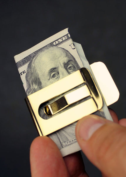 It's Only Money 18 karat Gold Plated Money Clip
