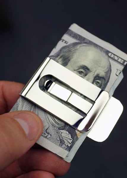 It's Only Money Sterling Silver Plated Money Clip