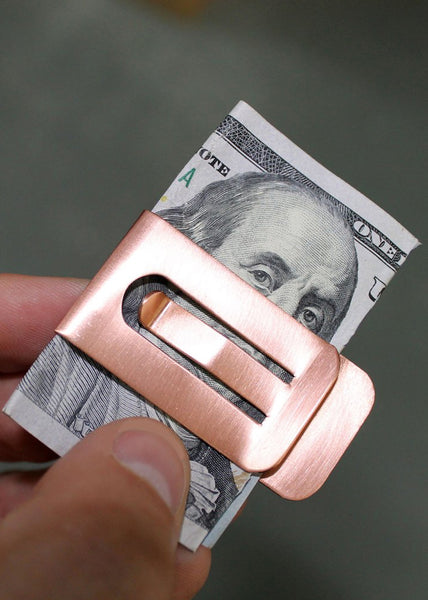 Solid Copper Money Clip