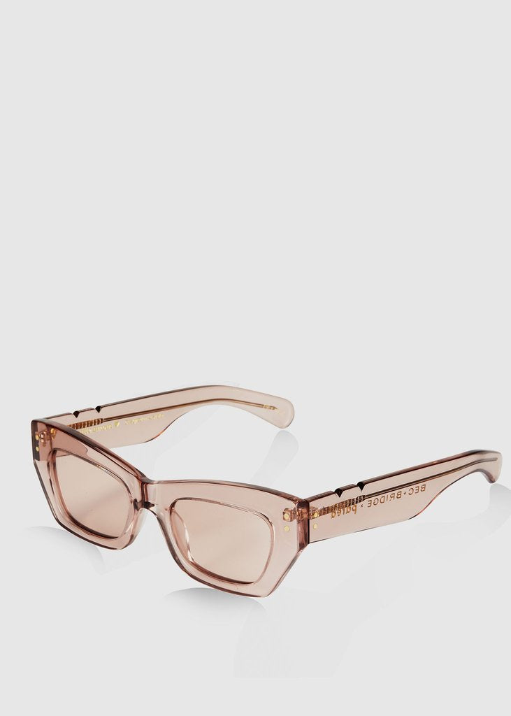 Bec & Bridge + Pared Petite Amour Sunglasses Taupe