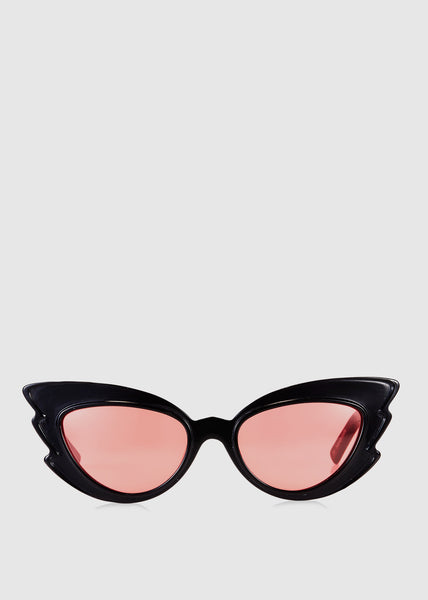 Emma Mulholland + Pared Stargazers Sunglasses Black with Red Lenses