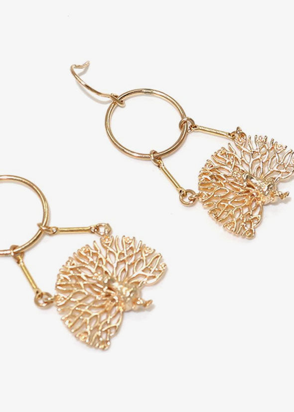 Peacock Earrings Gold
