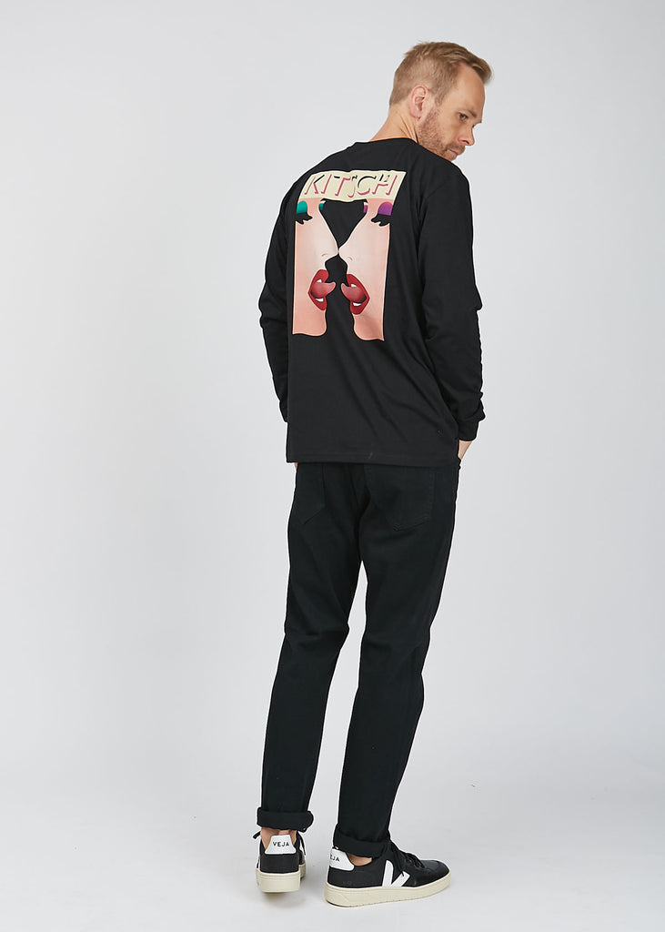 Kitsch Two Long Sleeve T-Shirt Black