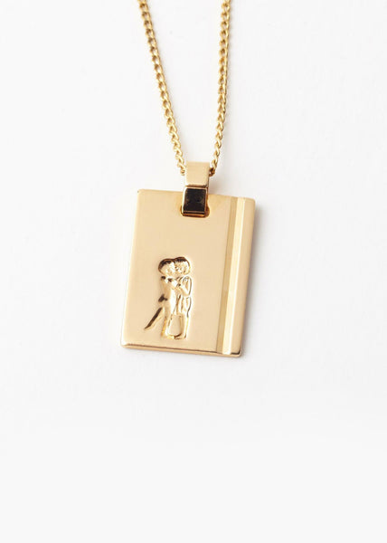 Gemini Star Sign Pendant and Chain Gold
