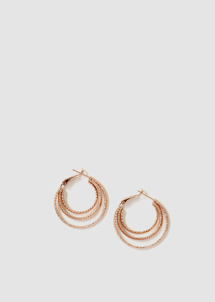 Layered Hoop Earrings 18CT Gold Filled