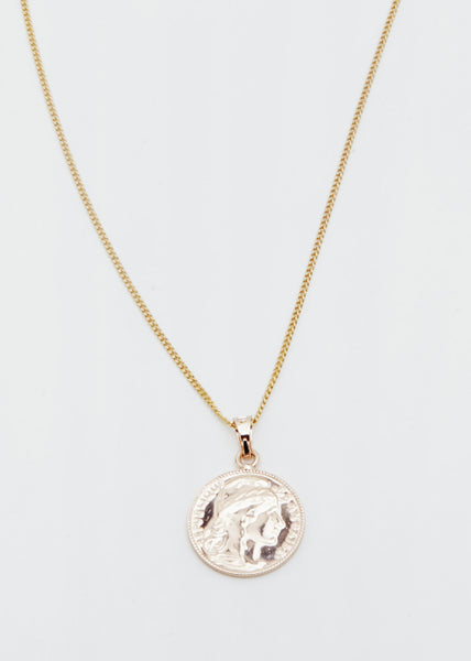 Mini Coin Necklace Gold