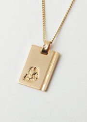 Virgo Star Sign Pendant and Chain Gold
