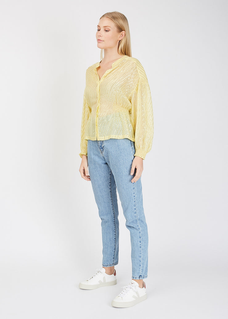 Svea Blouse Light Yellow