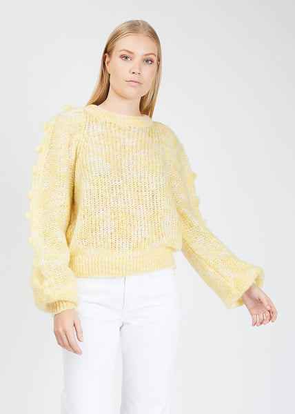 Holmvi Metallic Knit Light Yellow