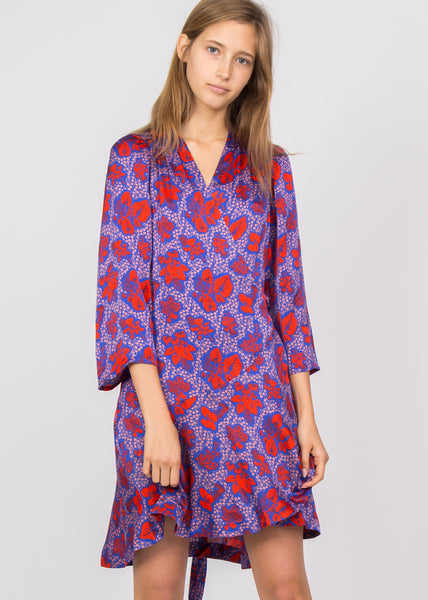 Milia Dress Deep Sea Blue