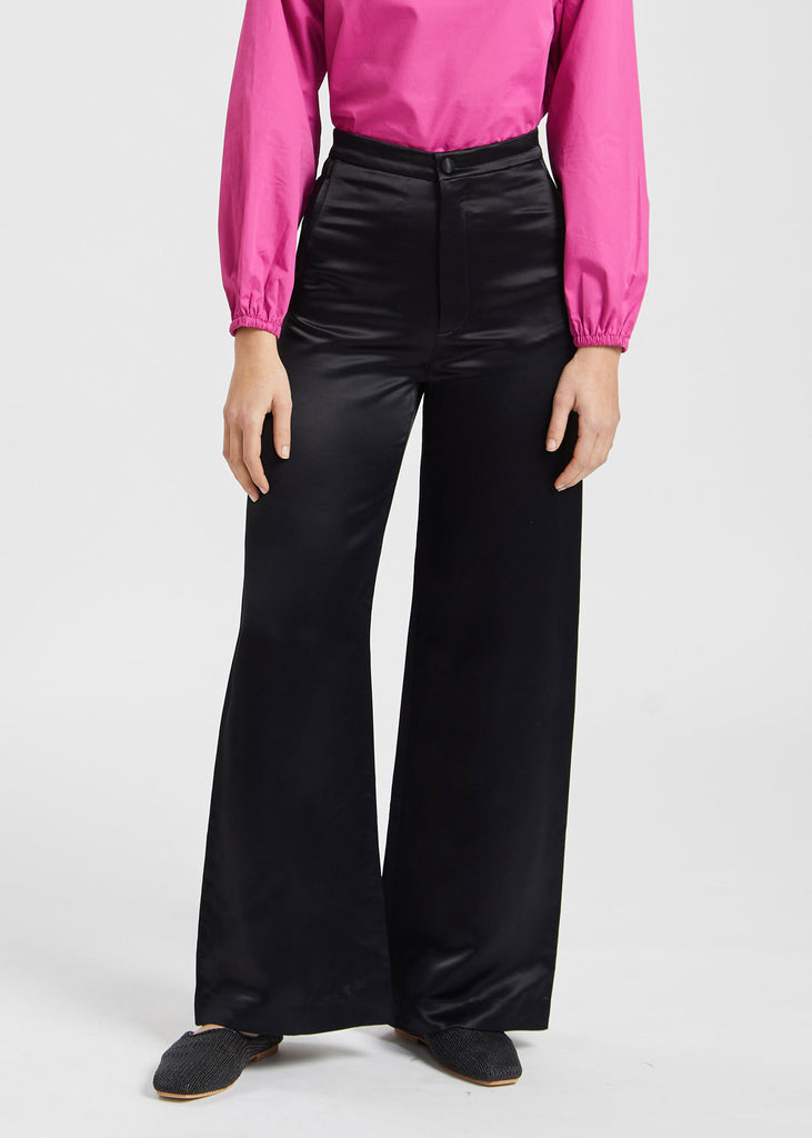 Sini Satin Trousers Black