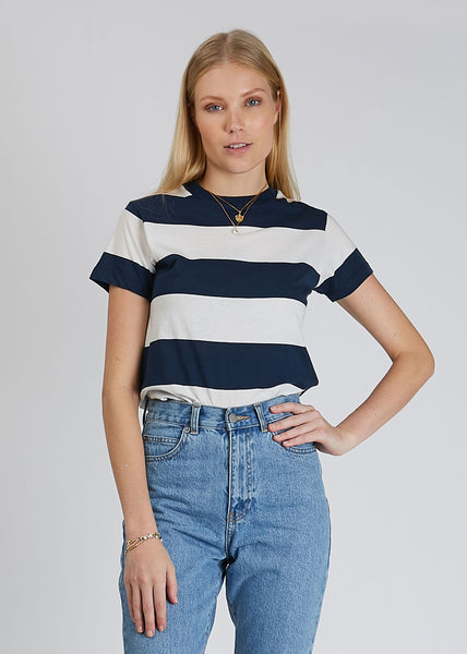 Big Stripe Tee Vanilla