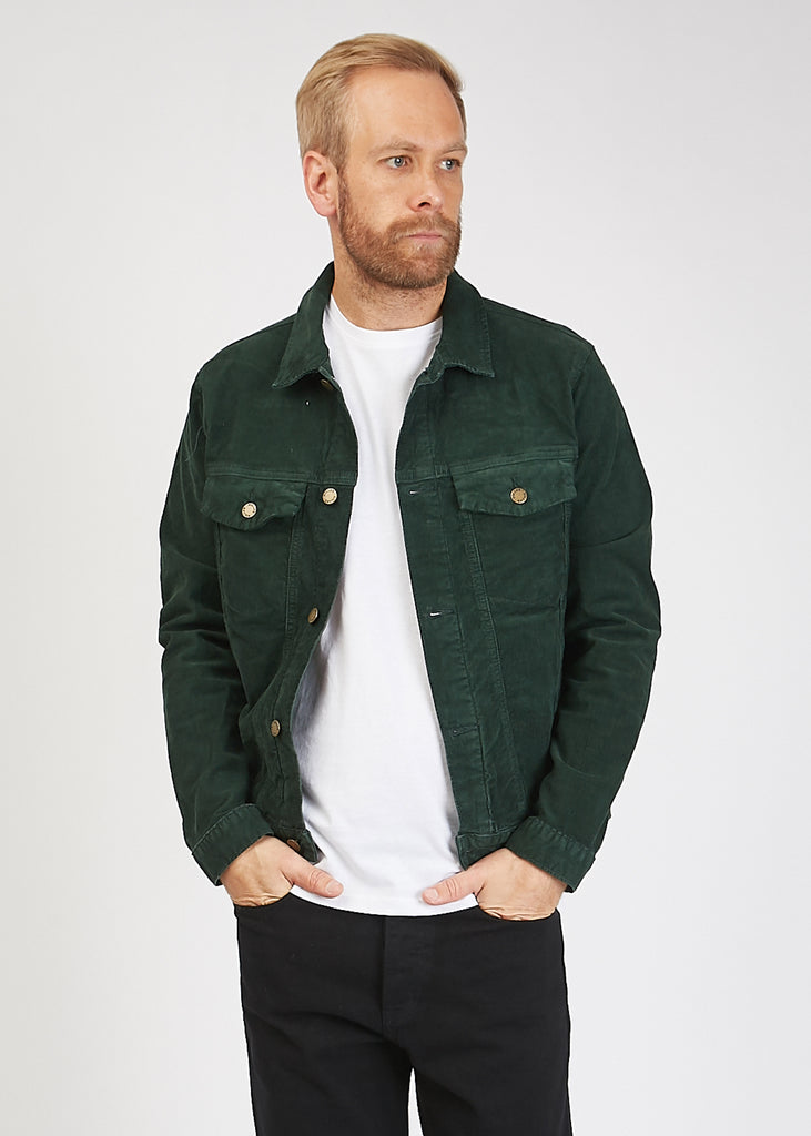 Denim Jacket Dark Forest Cord