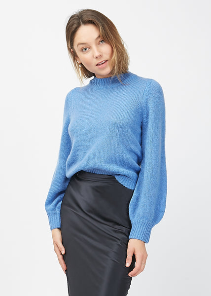 Fluffy Gigi Sweater French Blue