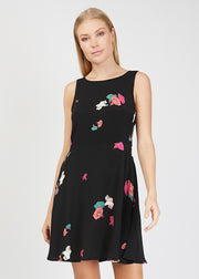 Jasmine Dress Yard Floral Black