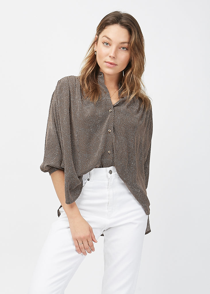 Monarch Blouse Mini Spot Brown