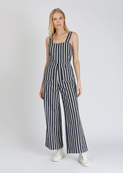 Sailor Jumpsuit Salty Stripe Navy White