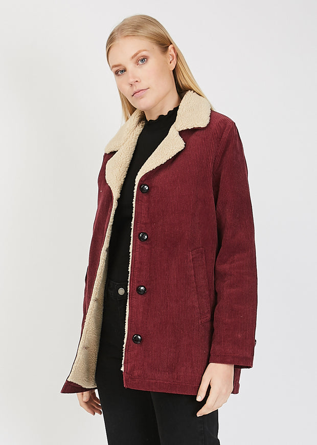 Sherpa Cord Jacket Bordeaux