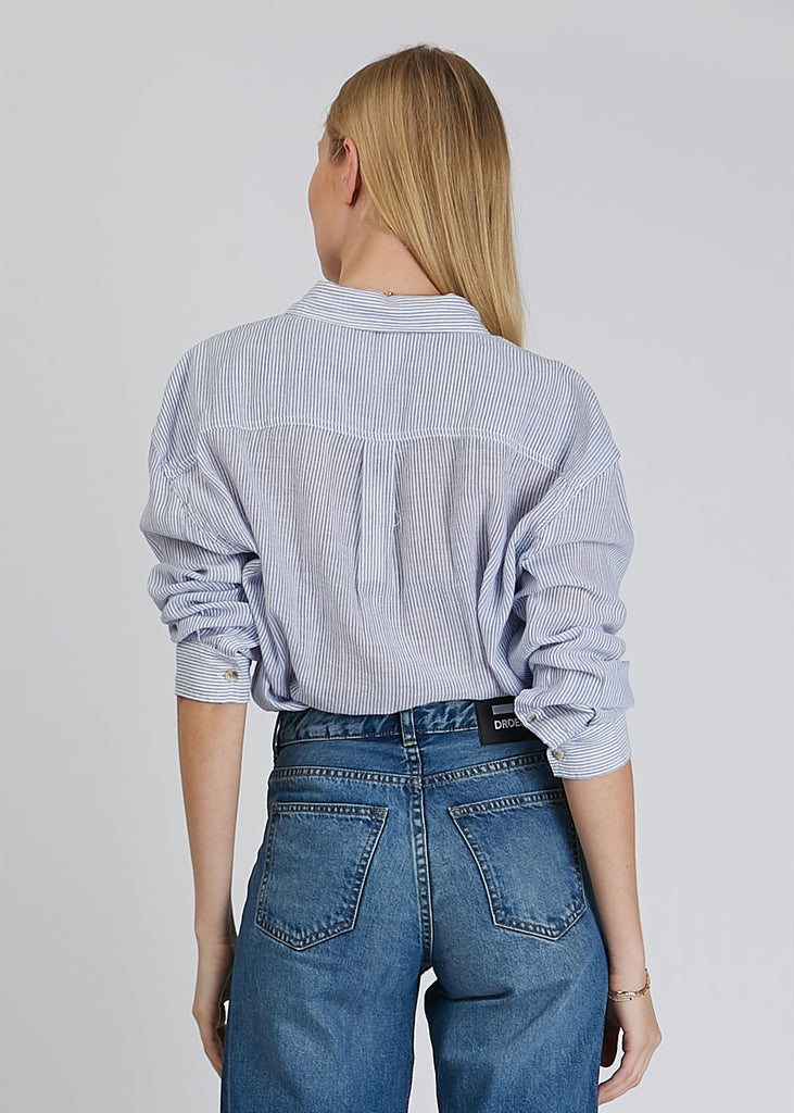 Slouch Stripe Shirt Blue White