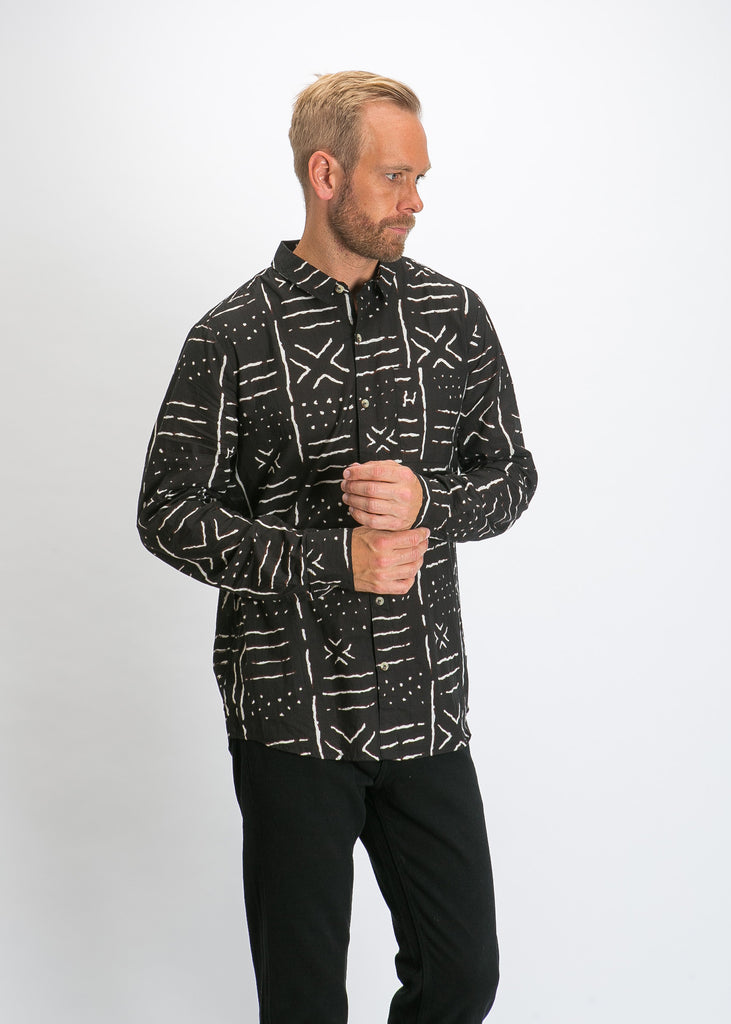 Bon Yindi Long Sleeve Shirt Black
