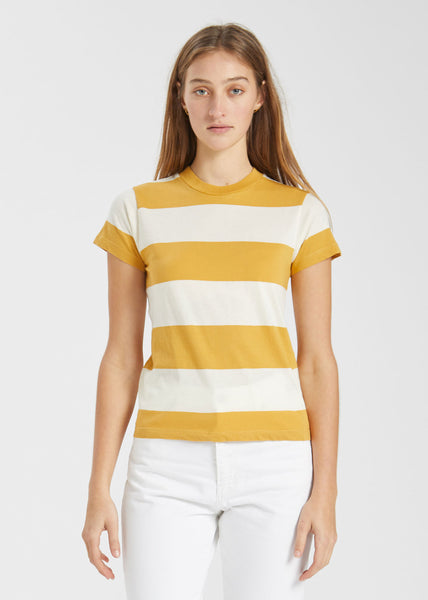 Big Stripe Tee Gold