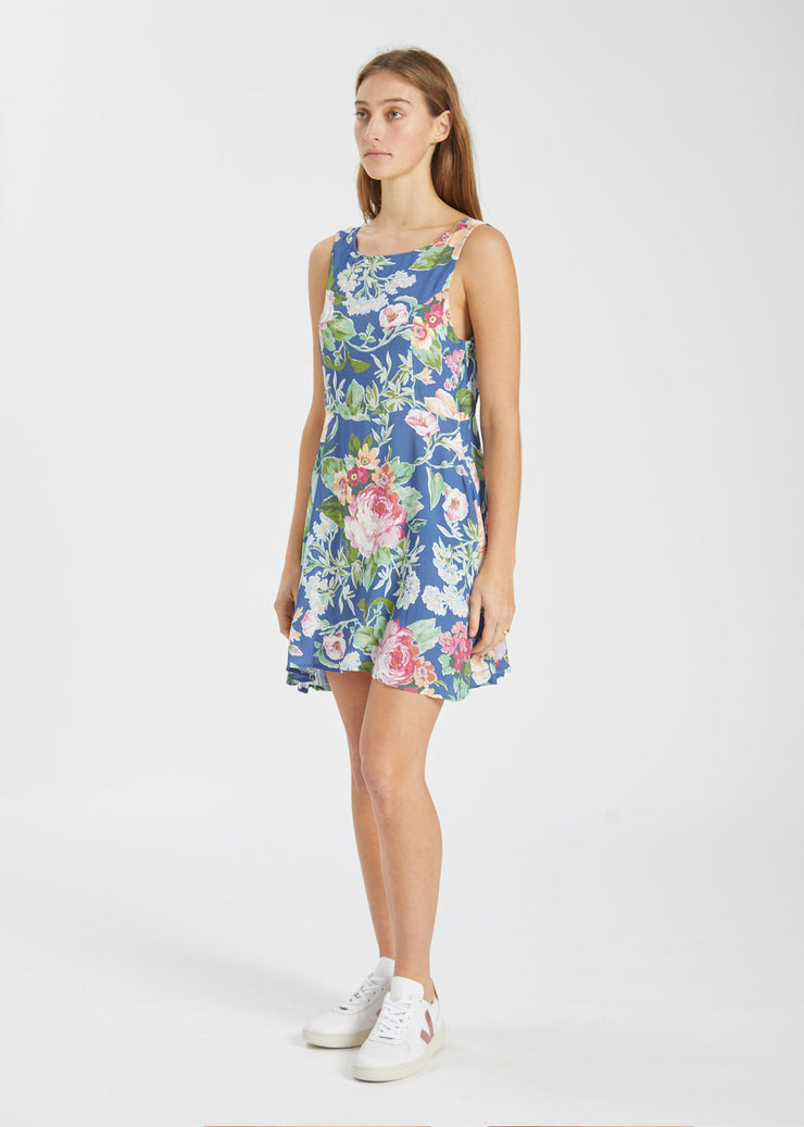 Jasmine Rose Garden Dress Blue